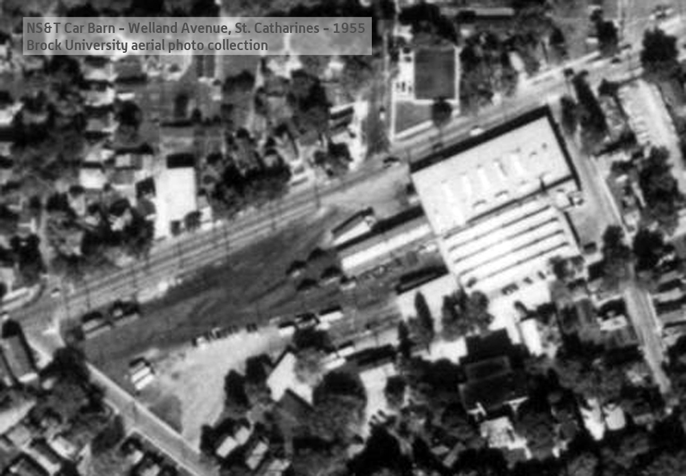 Carbarn - Aerial photo - 1955