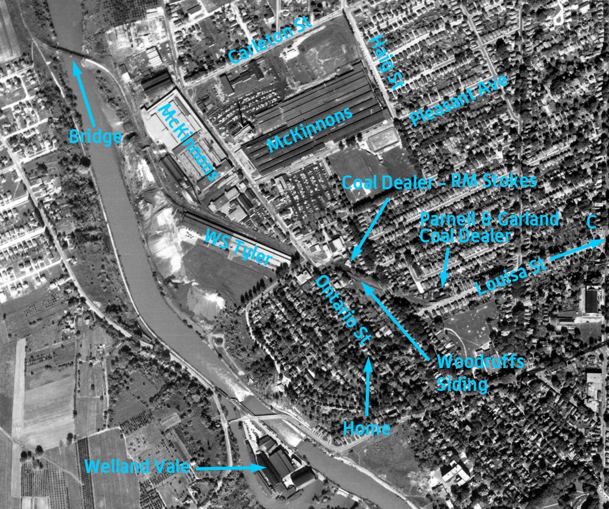 McKinnon aerial photo - 1955
