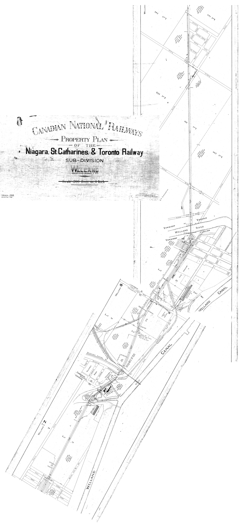 NST track map - Welland