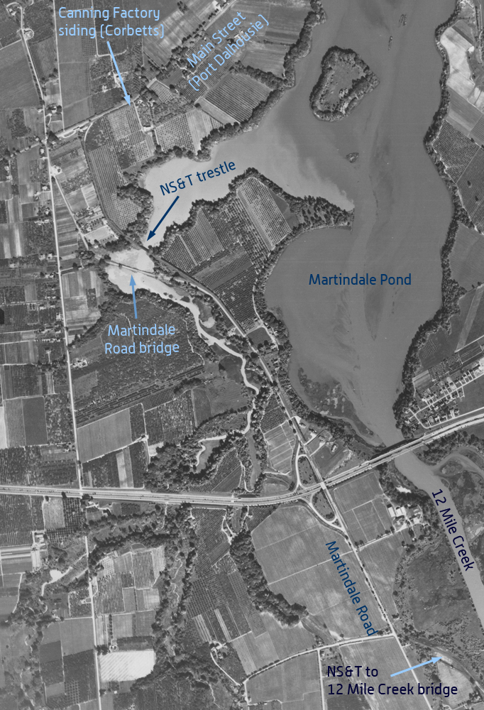 Martindale Pond - 1955 aerial photo
