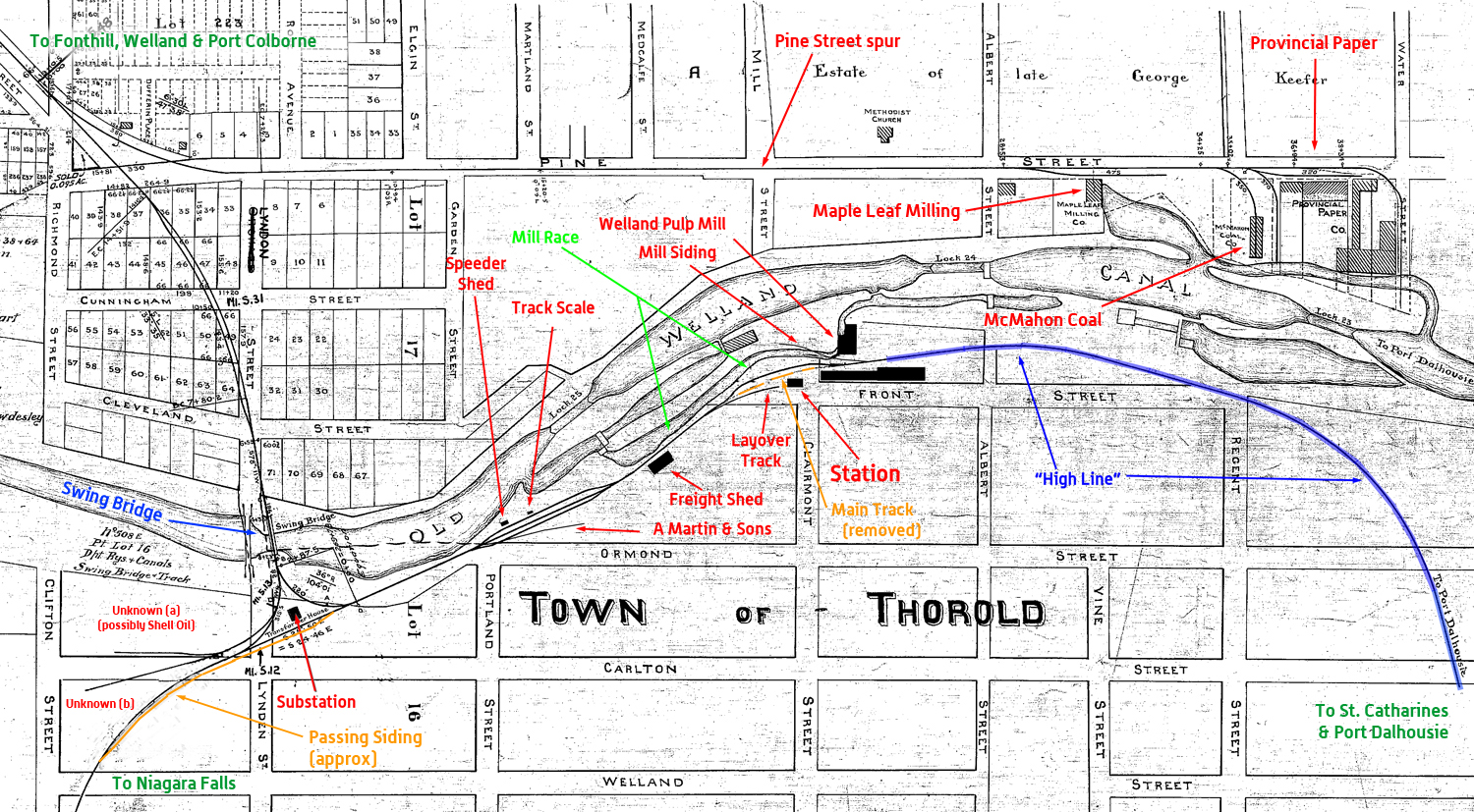 NS&T - Thorold Map - Labelled